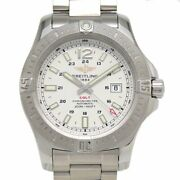 Breitling Colt Chronometer A17388 Automatic White Dial Date Stainless Mens