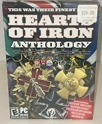 Hearts Of Iron I And Ii 1 And 2 Anthology Pc Doomsday W/ Medal Map Ntsc Sealed New