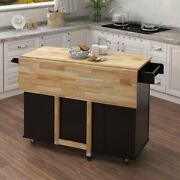 Portable Kitchen Island Cart Storage Trolley Serving Unit On Wheels Dining Room
