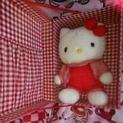 Rare Antique Hello Kitty Plush With Serial Number With Special Box