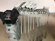 Mint Taylormade Kalea Ladies Complete Bag Set 11 Piece / Grey Green Right Hand