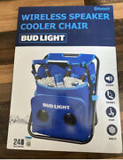 Bud Light 24-can Insulated Cooler Chair With Bluetooth Stereo Speaker Bn