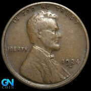1924 D Lincoln Cent Wheat Penny -- Make Us An Offer K8076
