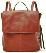 Fossil Claire Brandy Leather Backpack Shb1932213 Brown Nwt 178 Brass H-ware Fs