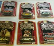 2006 Johnny Lightning Dukes Of Hazzard General Lee+all 5 Cars To Set 1/64 Scale