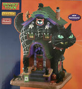 2021 Lemax Spooky Town Halloween In Ob Meow Mansion - Mib/nrfb