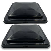 2 Rv Roof Vent Cover Replacement Lid Motorhome Camper Rv Trailer Black 14 X 14