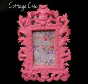 Pink Shabby Chic Picture Frame Baroque Art Wall Frame Cottage Chic Decor 4x6