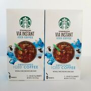 Starbucks Via Instant Sweetened Iced Coffee Lot Of 2 Boxes Exp 5/22