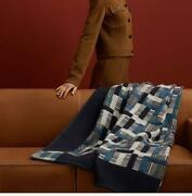 Hermes Placed Blanket Large New Free Shipping No.7937