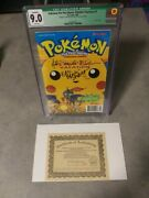 1998 Pokemon The First Movie Pikachu's Vacation 1 Cgc 9.0 Signed + Cao