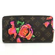 Louis Vuitton M93759 Monogram Rose Zippy Wallet Long There Is Coin No.8465