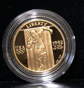 1992-w Gem Bu Proof 25th Olympic Gold Coin--a Bullion Value--stunning And Flawless