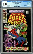 Marvel Super-heroes 14 - Cgc 8.0 - 1st Solo Spider-man Outside Of Amazing Mag