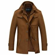 Male Double Stand Collar Style Jacket Fashionable Outwear Polyester Material New