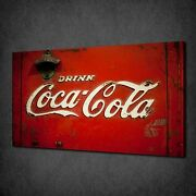 Drink Coca Cola Kitchen Design Canvas Print Picture Poster Ready To Hang