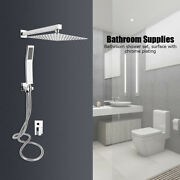 Wall Mounted 304 Stainless Steel Bathroom Shower Head System Kit For Home Hotel