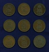 Sweden 5 Ore Coins 1875 2 1876 1884 1895 3 And 1897 2 Lot Of 9