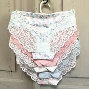 Jessica Simpson Flirty Lace Hipster Panties Underwear Nwt 5 Pack Seamless No Sho