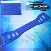 For 02-06 Rsx Dc5 / -05 Civic Si Rear Aluminum Subframe Chassis Brace Bar Blue