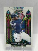 2021 Prizm Ronald Acuna Jr. Stained Glass White Wave Prizm Sg-4 Braves Fp