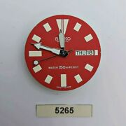 Used Seiko Movement Aftermarket Dial And Hands 6309 7290 7040 Watch Bvt05265