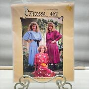 Contessa Sewing Smocking Pattern 462 Smoked Belted Dropped Waistline Dress 1986