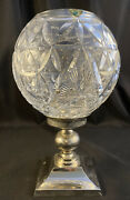 Waterford Crystal Times Square Star Of Hope Hurricane Lamp Candle Holder