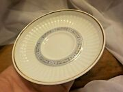 Vintage Wedgewood Small Plate Saucer England Blue And White W/ Gold Rim