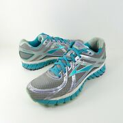 Brooks Adrenaline Gts 16 Silver Teal Running Shoes Womens Size 8.5 Wide