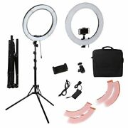Led Dimmable Ring Light 18 Inch 55w Tripods Phone Stand Vlog Video Lamp Kits
