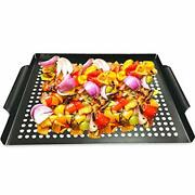 Mehe Grill Basketnonstick Grilling Topper 14.6x11.4 Thicken Grill Pan Bbq Ac...