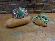1 30's Maisel's Navajo Green Turquoise Sterling Cuff Native Old Pawn Harvey Era
