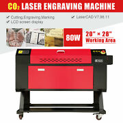 80w Co2 Laser Cutter Engraver Cutting Engraving Machine Red Dot Ruida 28and039and039x20and039and039