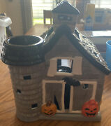 Bath And Body Works 2013 Halloween Haunted Barn House Large Candle Luminary New