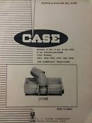 Case 220 222 442 444 155 195 Tractor Snow Thrower E84 F80 Implement Parts Manual
