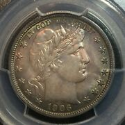 Pcgs Ms-63 1906-o Barber Half Dollar Tough Date To Find In Ms