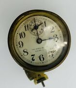 Vtg Rare 1800andrsquos Era Brass Automobile Clock By Waterbury Clock Co. And Jewell Mfg