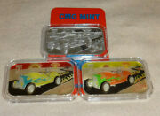 Sample Set Of 3 The Last Day Cmg Mint 1oz Silver Art Bars 1 Of 1 Le Hot Rod Car