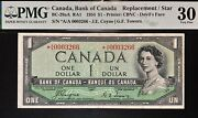 Canada 1954 1 One Dollar Devil Face Asterisk A/a, Coyne/towers Graded Pmg Vf30
