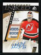 2020 Sp Game Used Inked Legendary Sweaters Tag 1/1 Martin Brodeur Patch Auto Hof