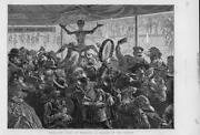 1872 Antique Print - Italy Rome Feast Trumpets Befana Drums Puppets 118