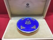 Antique Russian Enamel Silver And Diamond Large Box