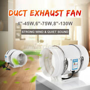 4/6/8 Inline Duct Fan Hydroponic Ventilation Extractor Vent Exhaust Air  U