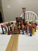 Lot Of 31 New And Used Pez Dispensers Holidays Mickey Mouse Ga Football Princess