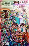 Expressionist Large Jefferson Money Painting Original Canvas Mosaic Collectible
