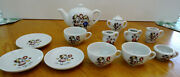 Vintage 1960's 14 Piece Childs Toy Tea Set, Sonsco, Real Chinaware Made In Japan