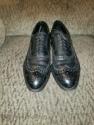 Johnston And Murphy For Boydand039s Aristocraft Black Wingtip Leather Shoes Sz 13 Aaa