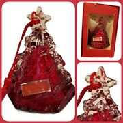 Marquis By Waterford Ornament 2007 Annual Red Tree Bell Lead Crystal Germany