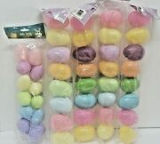 Happy Easter Basket Multi Color Fillable Eggs Plastic Large Small 5 Packs
